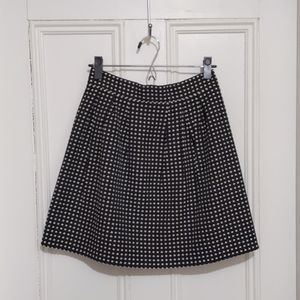 Francesca's black and white skirt